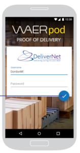 WAERpod Proof of Delivery app