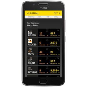 welcome dashboard. waerlinx for netsuite smartphone wms