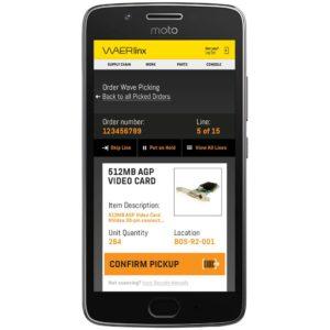 order wave picking screen. waerlinx for netsuite smartphone wms.